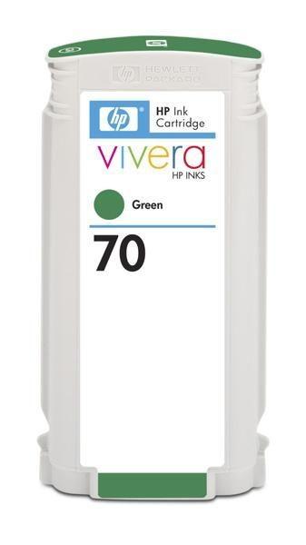 HP 70 original ink cartridge green standard capacity 130ml 1-pack with Vivera ink