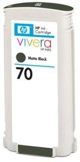 HP 70 original ink cartridge matte black standard capacity 130ml 1-pack with Vivera ink