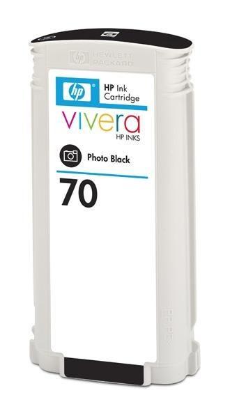 HP 70 original ink cartridge photo black standard capacity 130ml 1-pack with Vivera ink