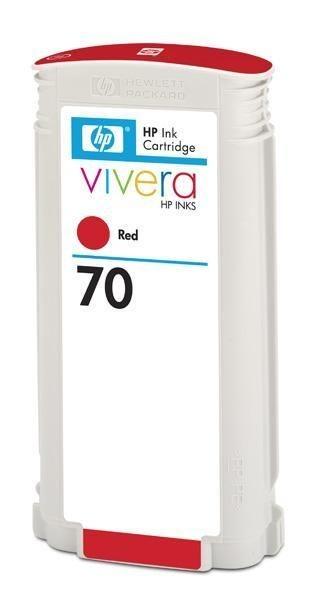 HP Atrament No 70 Ink Cart/130 ml Red w/vivera in