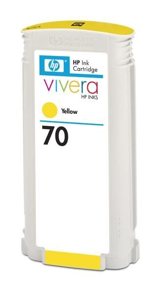 HP Atrament No 70 Ink Cart/130 ml Yellow w/vivera