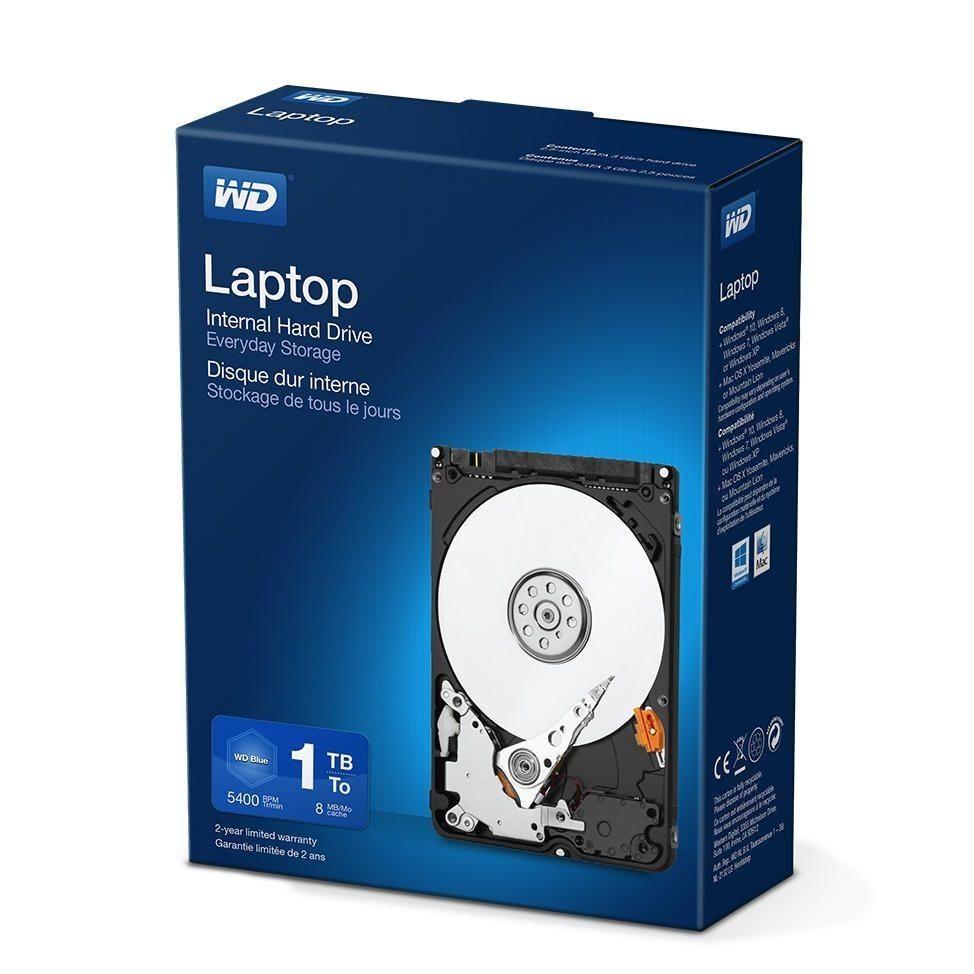 Western Digital WDC WDBMYH0010BNC-ERSN Dysk twardy WD Laptop Everyday, 2.5, 1TB, SATA/300, 5400RPM, 8MB cache