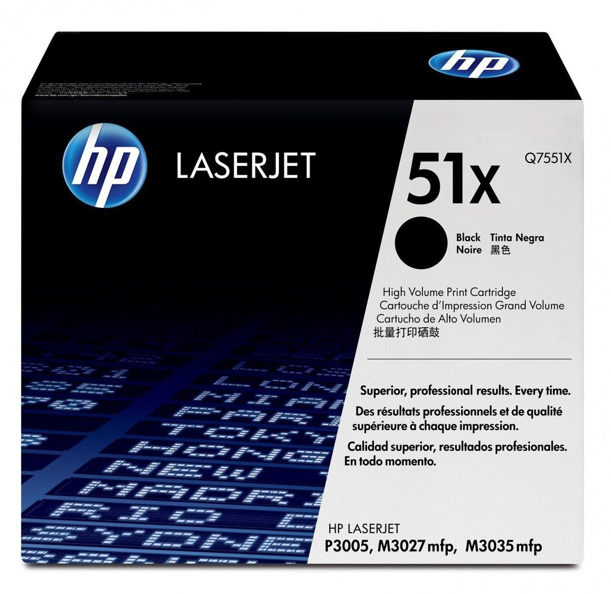 HP Toner LaserJet 3005 Serie 13.0k Q7551X black