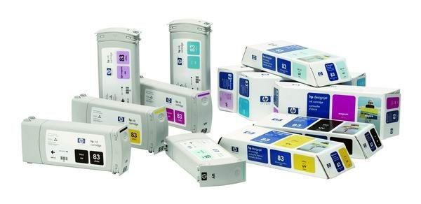 HP Wkład atramentowy UV No. 83 Cyan do DSJ 5x00, 680 ml, C4941A