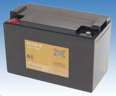 CyberPower Baterie - CTM CTL 110-12 (12V/110Ah - M6), životnost 10-12let