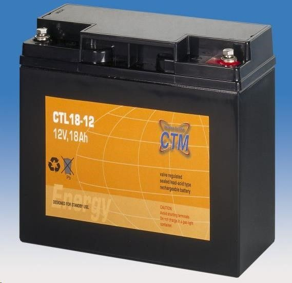 CyberPower Baterie - CTM CTL 18-12 (12V/18Ah - M5), životnost 10-12let