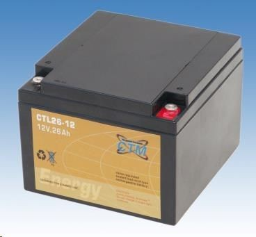 CyberPower Baterie - CTM CTL 26-12 (12V/26Ah - M5), životnost 10-12let