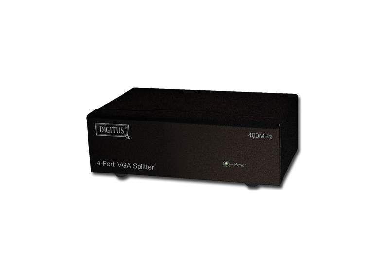Digitus DS-42110 Rozdzielacz/Splitter VGA 4-portowy, 500MHz 2048x1536p QXGA