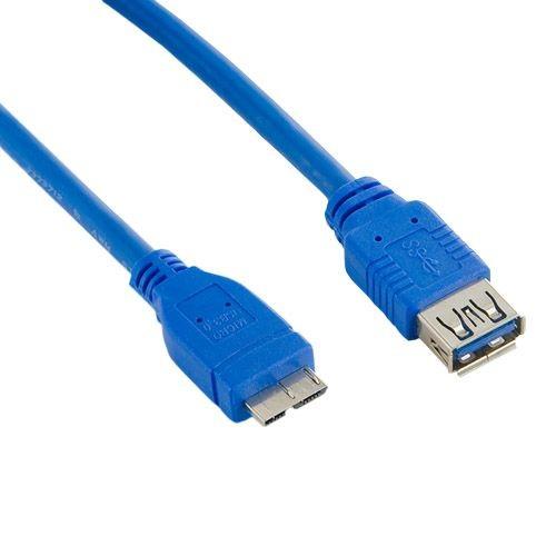 4World 08971 Kabel USB 3.0 AF- Micro BM 1.8m niebieski