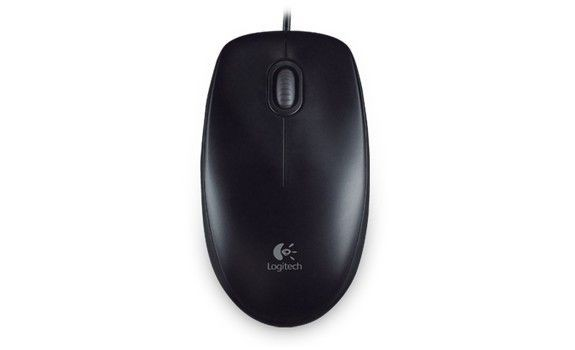 Logitech B100 Optical USB Mouse for Business, black