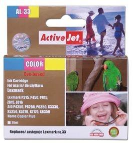 ActiveJet Tusz AL-33R (zamiennik Lexmark 33 18C0033E; Premium; 21 ml; kolor)