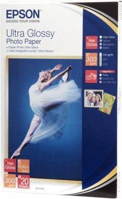 Epson photo paper Ultra glossy 10x15 20sheet for Stylus R200 R300 R320 R800 RX425 RX500 RX600 RX620 C43 44 45 46 62