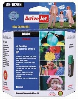 ActiveJet Tusz ActiveJet AH-26N | Black | 40 ml | HP 51626 | HP 26