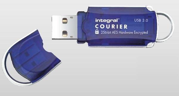 Integral pamięć 16GB USB3.0 Courier - Szyfrowanie Sprzetowe AES 256BIT, FIPS197