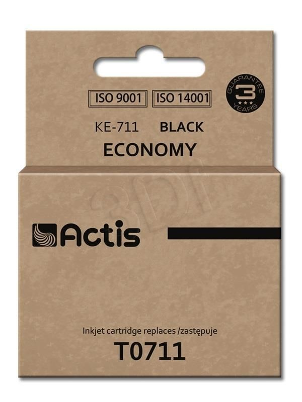 Actis Tusz KE-711 (zamiennik Epson T0711 T0891 T1001; Standard; 15 ml; czarny)