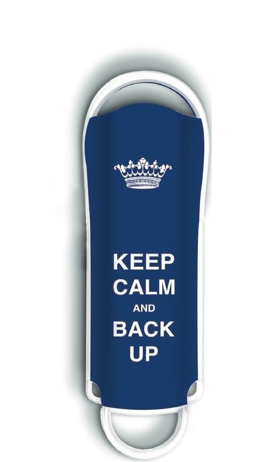 Integral pamięć USB Xpression 8GB, ''Keep Calm'' niebieski