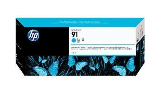 HP 91 original ink cartridge cyan standard capacity 775ml 1-pack with Vivera ink