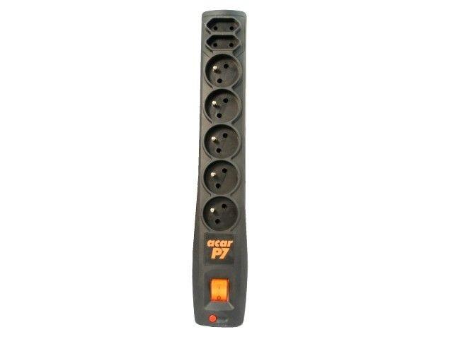 HSK Listwa zasilająca Acar P7 3,0m 7 gniazd automat czarna