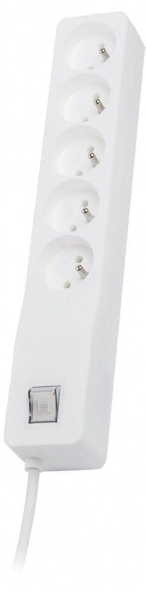 Lestar Listwa przeciwprzepięciowa ZX 510, 1L, 1,5m, biała