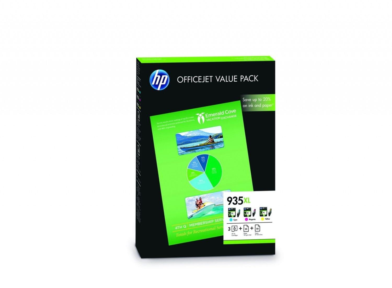 HP Zestaw HP 935XL CMY | 3x825 str.