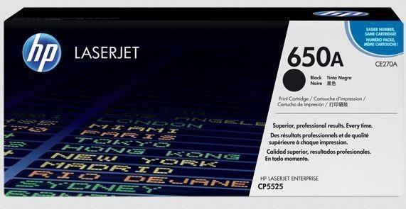 HP TONER BLACK 650A /CP5525 13.5K/CE270AC