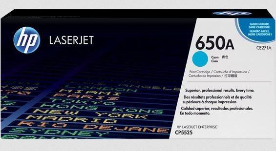 HP TONER CYAN 650A /CP5525 15K/CE271AC