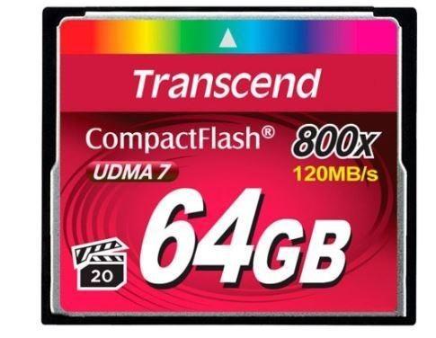Transcend karta pamięci 64GB Compact Flash 800x