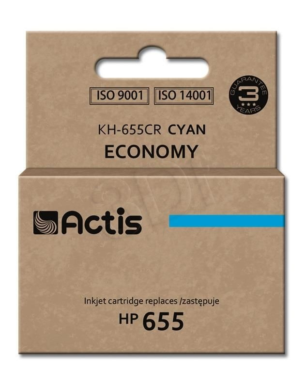 Actis Tusz KH-655CR (zamiennik HP 655 CZ110AE; Standard; 12 ml; niebieski)