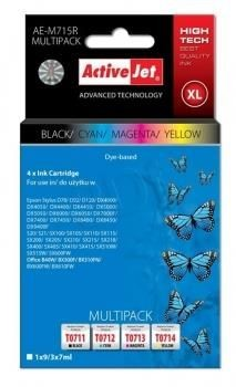 ActiveJet TUSZ EPSON D78/DX4000 zestaw: Black, Cyan, Magenta, Yellow AE-M715R