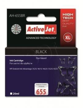 ActiveJet Tusz AH-655BR (zamiennik HP 655 CZ109AE; Premium; 20 ml; czarny)