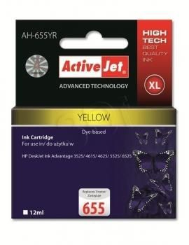 ActiveJet Tusz AH-655YR (zamiennik HP 655 CZ112AE; Premium; 12 ml; żółty)