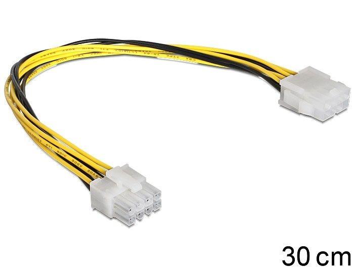 DeLOCK Przedłużacz kabla zasilającego EPS(M) ->EPS(F) 8PIN
