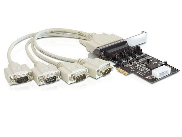 DeLOCK Karta PCI-Express->4xCOM(9PIN)