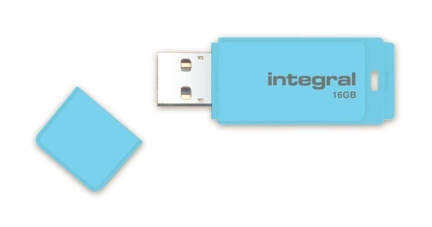 Integral pamięć USB Pastel 16GB, USB 3.0, Blue Sky