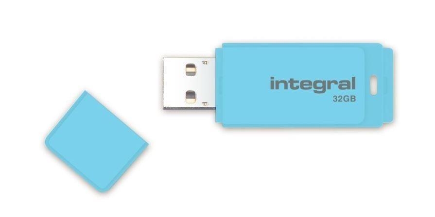 Integral pamięć USB Pastel 32GB, USB 3.0, Blue Sky