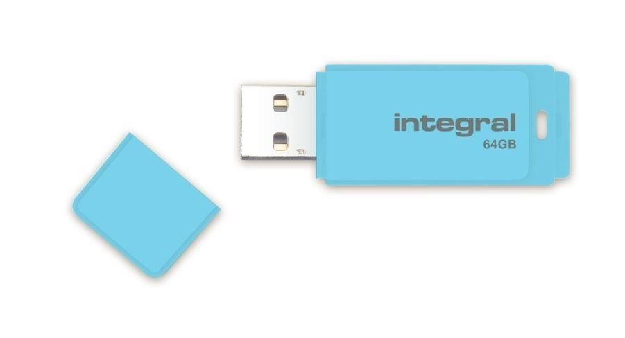 Integral pamięć USB Pastel 64GB, USB 3.0, Blue Sky