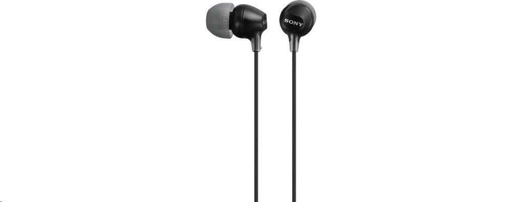 Sony stereo sluchátka MDR-EX15LP, černá