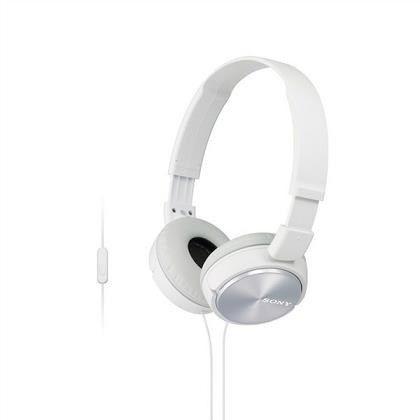 Sony stereo sluchátka MDR-ZX310AP, bílá