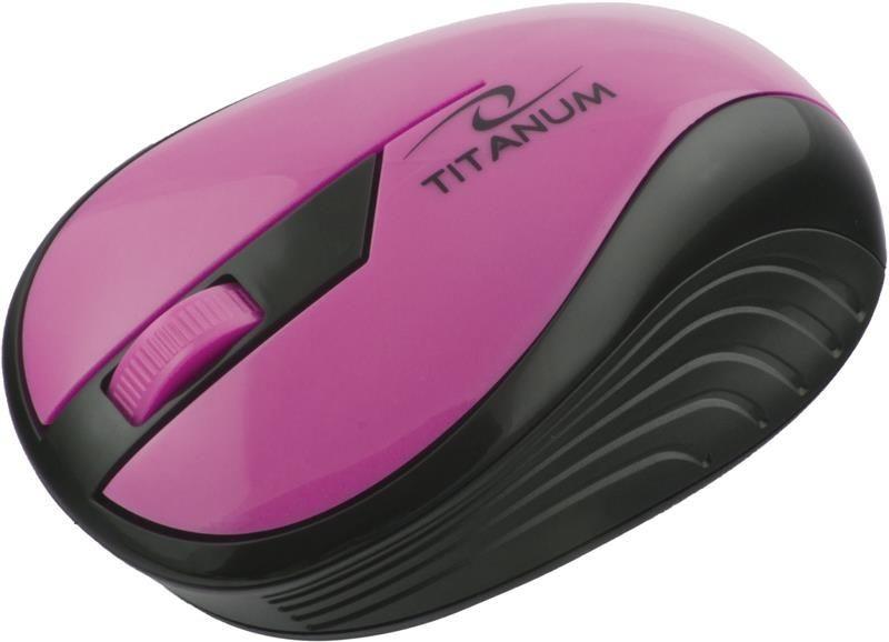 Esperanza Mysz bezprzewodowa RAINBOW TM114P optyczna różowa