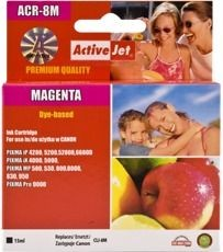 ActiveJet Tusz ActiveJet AC-8MR | Magenta | 15 ml | Chip | Regenerowany | Canon CLI-8M