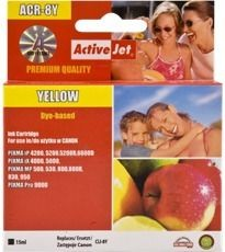 ActiveJet Tusz ActiveJet AC-8YR | Yellow | 15 ml | Chip | Regenerowany | Canon CLI-8Y