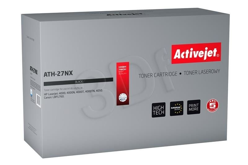 ActiveJet Toner ATH-27NX (zamiennik HP 27X C4127X Canon EP-52; Supreme; 11300 stron; czarny)