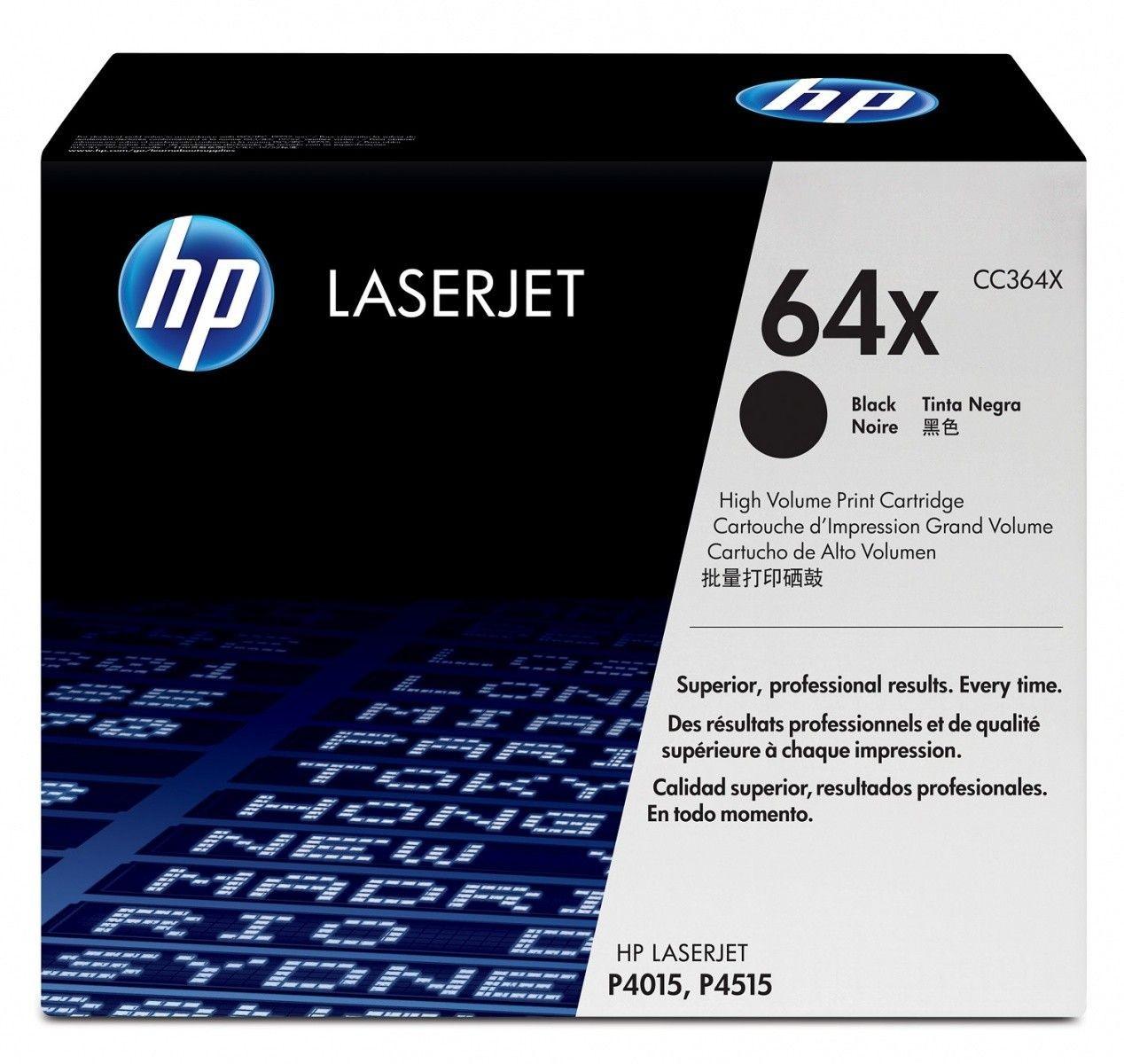 HP Toner LaserJet P4015/P4515 Serie CC364X 24K bla