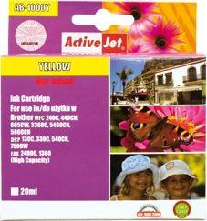 ActiveJet Tusz AB-1000YN (zamiennik Brother LC1000Y/970Y; Supreme; 35 ml; żółty)