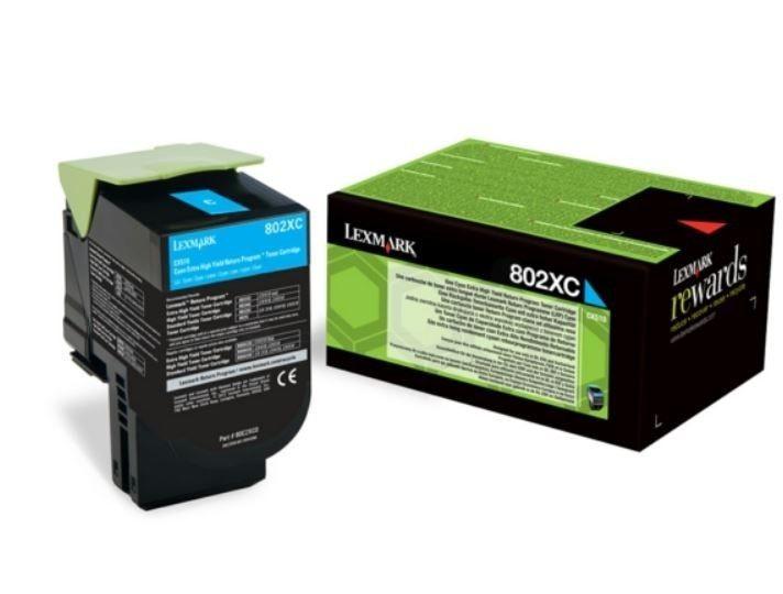 Lexmark 80C2XCE Toner cyan korporacyjny 4000 str. CX510
