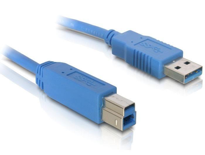 DeLOCK Kabel USB-A(M)-USB-B(M) 3.0 5 m niebieski