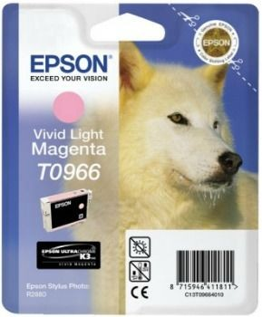 Epson C13T09664010 Tusz T0966 vivid light magenta UltraChrome K3 Stylus photo R2880