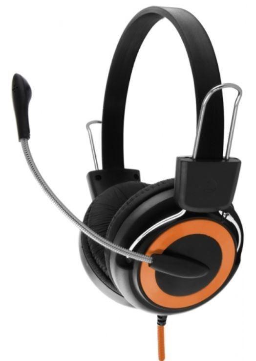 Esperanza Słuchawki Stereo z Mikrofonem i Regulacją Głośności EH152O