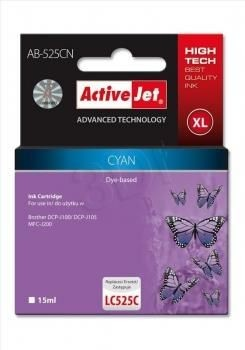 ActiveJet Tusz ActiveJet AB-525CN | Cyan | 15 ml | Brother LC525C