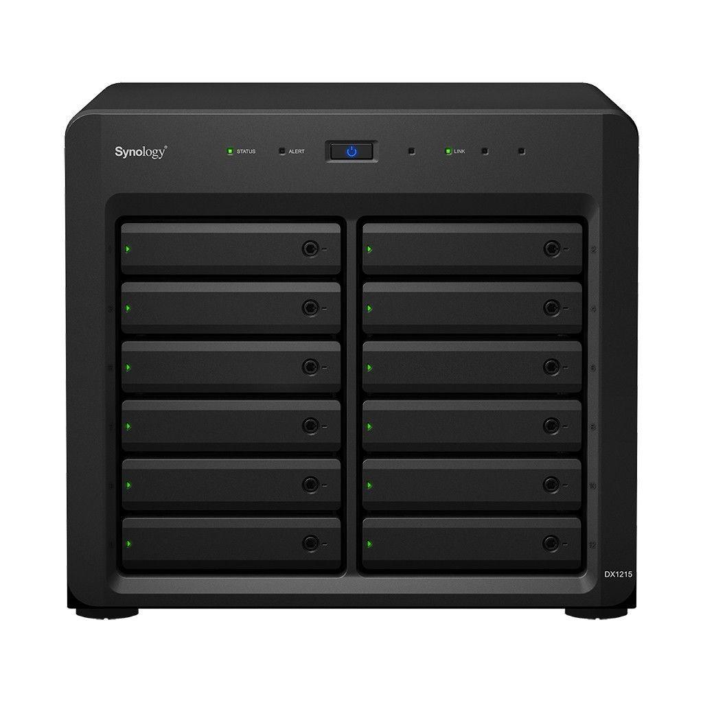 Synology DX1215, 12-kieszeniowa jednostka rozszerzająca do urządzeń w wersji desktop 5Y